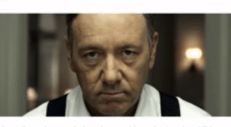 Kevin Spacey. Photo Taken From Video.