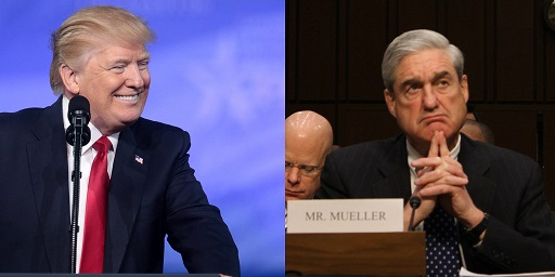 Robert Mueller vs President Trump. Photo by Gage Skidmore.