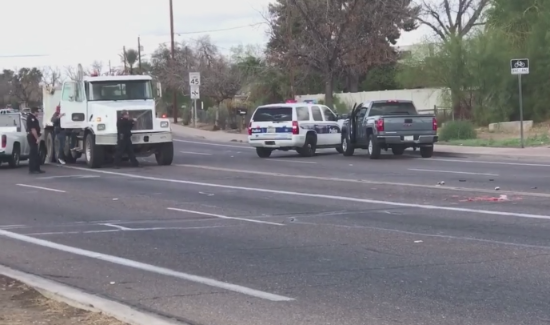AZ, Fatal Shooting. Photo taken from video.